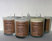 Two Ounce -  Natural Essential Oil Scented Soy Candle  - New Scents  -  Lemon Basil & Cinnamon Orange Clove