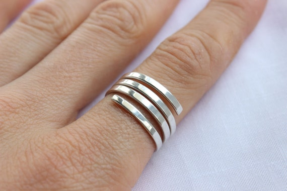 Sterling Silver Spiral Ring, simple ring, made to order in your size