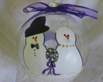 Bride and Groom - Personalized and Hand Painted