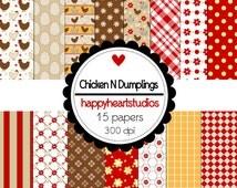 Digital Scrapbook ChickenDumplings-INSTANT DOWNLOAD