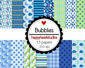 Digital Scrapbook Bubbles-INSTANT DOWNLOAD
