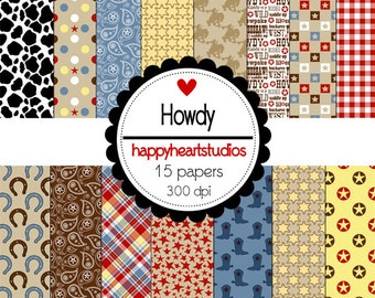 Digital Scrapbook Howdy-INSTANT DOWNLOAD
