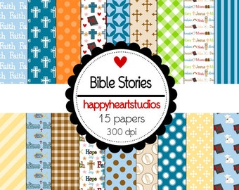 Digital Scrapbookin BibleStories-INSTANT DOWNLOAD
