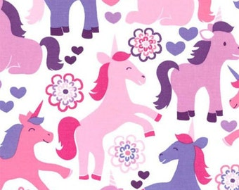 FAT QUARTER- Magic Unicorns by Michael Miller Fabrics CX5751-Lavender