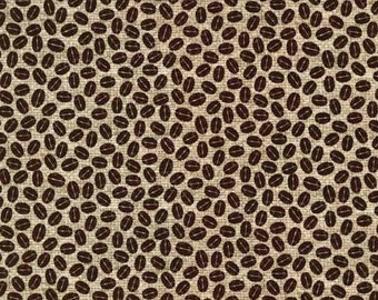 One (1) Yards -Beans to You by Michael Miller Fabrics DC5502-FLAX-D