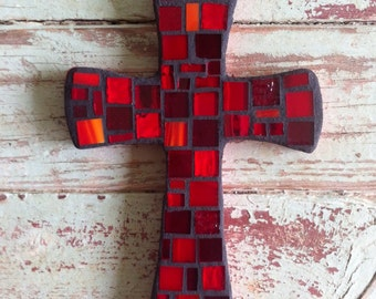 Mosaic Small Red Cross