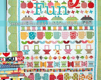 Clearance BOOK QUILTY FUN by Bee In My Bonnet Lessons in Scrappy Patchwork