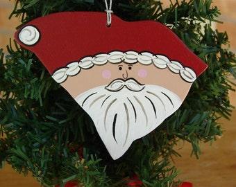 South Carolina Santa Ornament