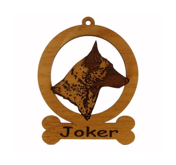 Belgian Malinois Head Ornament 081610 Personalized With Your Dog's Name