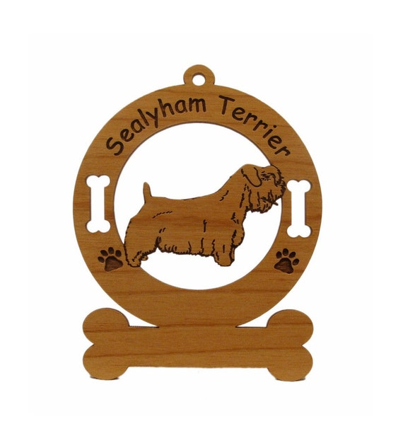3910 Sealyham Standing Personalized Wood Ornament