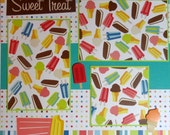 SWEET TREAT 12 x 12 premade scrapbook page popsicle ice cream