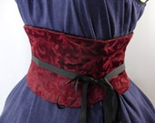 Corset Waist Cincher Merlot Red Tapestry Belt Any Size B