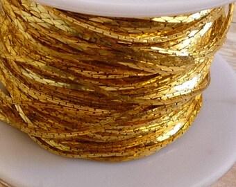 New Chain Bulk 100 Feet FT Full Spool Cobra Serpentine Chain  Deep Gold Plated