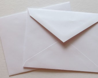 PPE41  Qty. of 50 A2 70 lb. White Paper Envelopes 4 3/8 x 5 3/4 (11.11cm x 14.61cm)