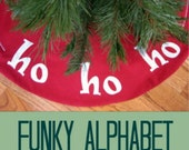 Funky Alphabet Applique Template - Alphabet Applique Pattern - PDF Pattern, DIY