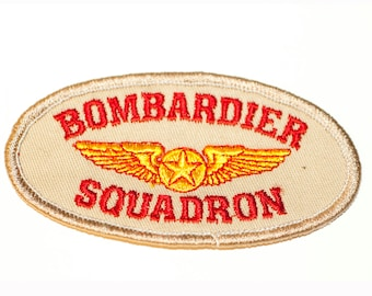 Vintage Military Bombardier Squadron Iron-on  Patch With Stars and Wings