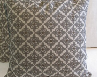 decorative Pillow Cover  18x18 20X20 22x22 24x24 26x26 pewter gray