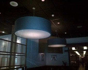 Custom 60 inch very large drum pendant light fixture
