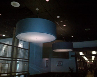 Custom 60 inch very large drum pendant light fixture- now FREE SHIPPING!