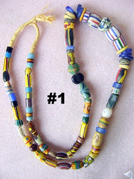 Necklace, African, Trade, Bead ,Vintage, Tribal, Ethnic,