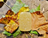 BERGAMOT & LIME Raw Honey Natural Glycerin Soap Bar Moisturizing Organic Ingredients Essential Oils (SLS Free) leaves autumn wood yellow