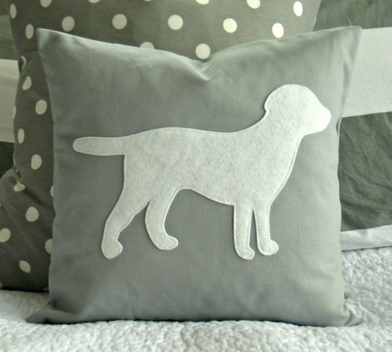 Modern Pillow Covers Etsy : Items similar to Modern Grey and White Puppy Pillow Cover on Etsy