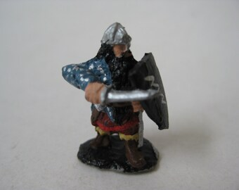 Warrior Man Sword Dungeons and Dragons Figurine Vintage Metal Miniature