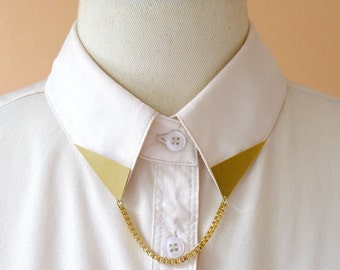 Triangle Collar Tips With Chain