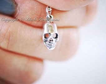 Skull Necklace - Solid 925 Sterling Silver Skeleton Charm - Insurance Included