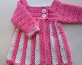 Special Order for Kasie Kelly: Sweetie-Pie bubble gum pink and white sweater size 12 month