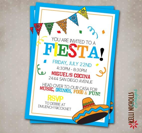 Invitación de la Fiesta Mexicana Cinco de por KelliNichollsDesigns