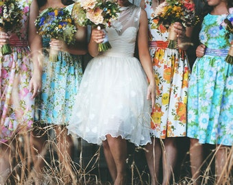 tea dresses for your wedding, bridesmaids