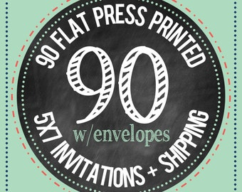 90 - 5x7 Flat Press Printed Cards with envelopes : PRINTING SERVICES