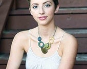 Shades of Yellow and Green Necklace
