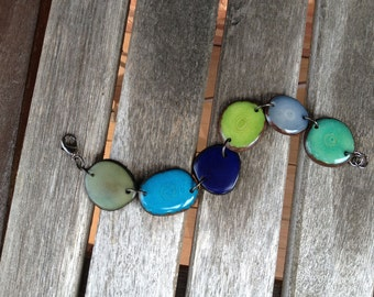 Bracelet with Blues and Greens/Other Colors Avail