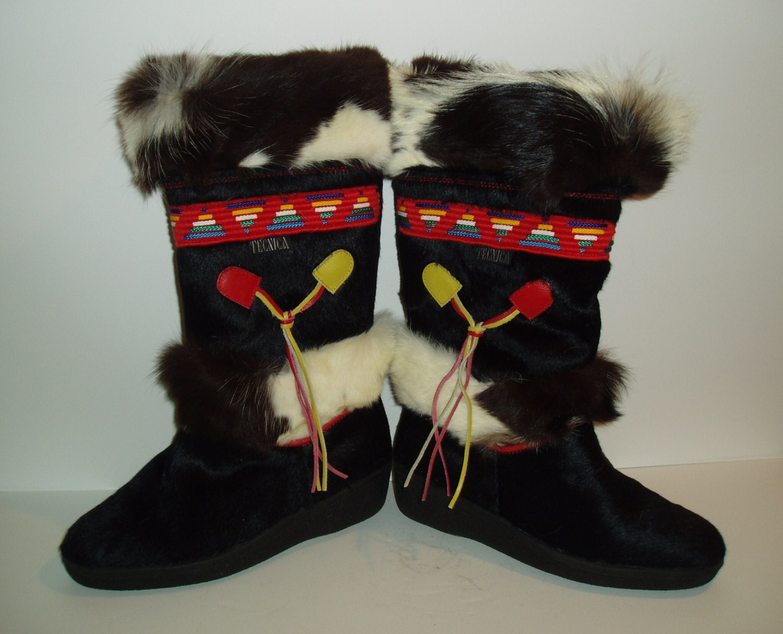 Tecnica Skandia Navajo Boots Ladies Shearling Bovine Cowhide