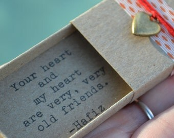 Old Friends Message Box (Hafiz Quote)