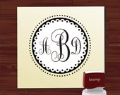 WEDDING MONOGRAM Custom self - inking  stamp - Return Address Rubber Stamp - style 7001- Personalized wedding or christmas gift