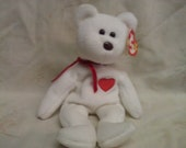 Retired TY Beanie Baby - Valentino the Valentines Bear (With Tag)