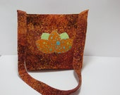 SALE - Lotus - Batik Handbag - Lotus Bag - Applique Lotus Flower Purse - Tye Dye Lotus - Bali Batik Bag - Lotus Bag