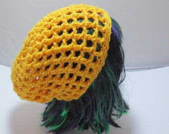 Slouchy Crochet Hat - Slouchy Yellow Hat - Slouch Hat - Yellow Crochet hat
