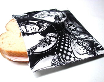 Reusable Sandwich Bag Star Wars  Sandwich Tote Eco Lunch Storage