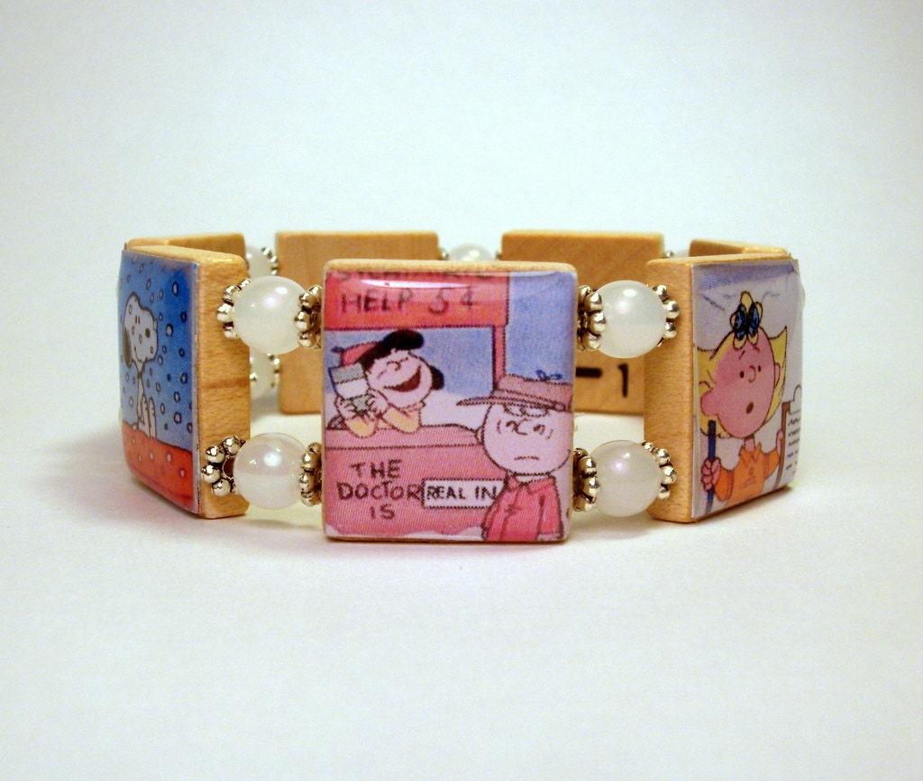 peanuts jewelry brown bracelet