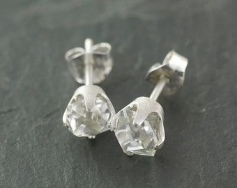 Large Stunning Clear Herkimer Diamond Earrings Eco Jewelry
