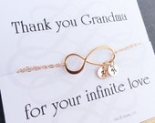 Personalized Grandmothers bracelet with Grandchildrens initials, Infinity Bracelet, Infinity jewelry, Figure eight, Family initials,