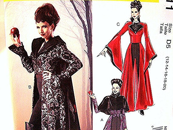 Adult Womens Evil Queen Costume Pattern Misses size 12 14 16
