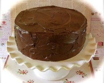 "Fake Cake ""Retro Cookbook Cake Collection"" Yummy Chocolate Cake Fab Photo Prop, Cake Plate Display 12 Legs Original"