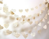 Vintage Paper Hearts Garland Choose Your Novel/Length Weddings, Photo Prop Interior