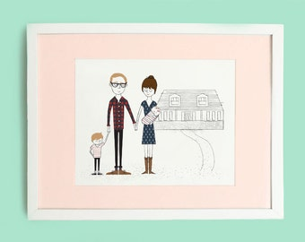 Custom Art Print - Modern Family Portraits Print