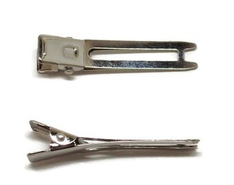 50 Double Prong Alligator Hair Clips 48mm (1 7/8 inch)